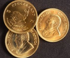 #Gold Krugerrand #Coin. The Krugerrand, first minted in 1970 is the original one ounce gold bullion coin. This 22 karat gold coin is alloyed with copper to give it an unmatched measure of durability.