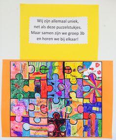 Puzzelstukjes bij het woordje 'en' | Juf Joycella Social Emotional Learning, Social Skills, Friendship Preschool Crafts, New School Year, Back To School, Diy For Kids, Crafts For Kids, Diy Crafts, Friendship Theme