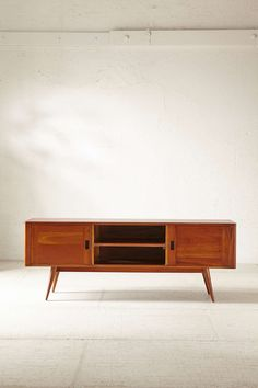 """Moda Storage Console for TV Solid mahogany Length: 63"""" - Width: 15.75"""" - Height: 23.625"""" $679"""