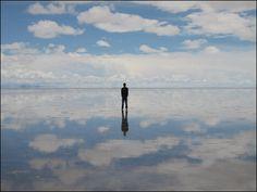 Salar de Uyuni in Bolivia, the largest salt flat in the world