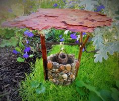 Fairy Gardens STONE WISHING WELL with by TheMistyHollowPixie