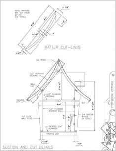 Kids Playhouse Plans, Backyard Playhouse, Build A Playhouse, Cubby Houses, Fairy Houses, Play Houses, The Plan, How To Plan, Crooked House