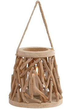 Driftwood Lantern - Lanterns - Candle Lantern - Hanging Lanterns | HomeDecorators.com