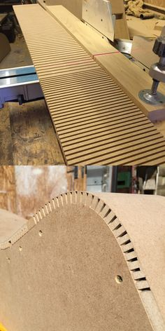 """Need to bend MDF around a tight radius? Here's how... this is 12mm MDF bent through 90 degrees at a 3"""" radius."""