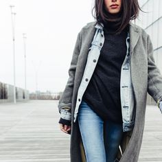 Layer up in #IRISandINK just like blogger @alexcloset. It's the chicest way to combat the chill! #THEOUTNET