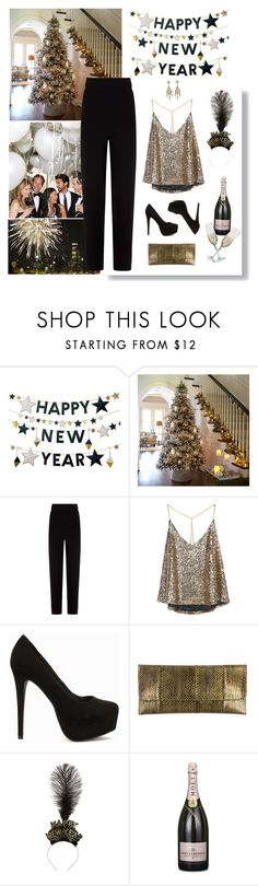 """New year's outfit"" by khammy ❤ liked on Polyvore featuring West Elm, Balenciaga, Nly Shoes and Cara"