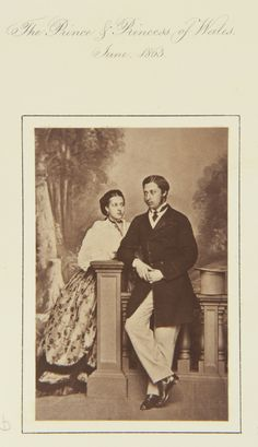 The Prince and Princess of Wales, June 1863 [in Portraits of Royal Children Vol.7 1863-1864] | Royal Collection Trust