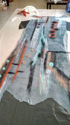 Remake Clothes, Diy Clothes, Ancient Greek Clothing, Woolen Dresses, Textile Fiber Art, Felting Tutorials, Vest Pattern, Altering Clothes, How To Make Necklaces