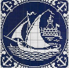 Ship anchor cross stitch