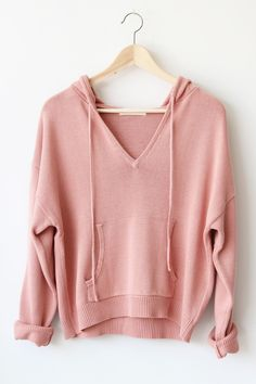 """- Details - Size - Shipping - • 60% Rayon 40% Cotton • Loose fit pullover knit hoodie • Hand Wash • Line dry • Imported • Measured from small • Length 21"""" • Chest 21"""" • Waist 20"""" • Sleeve Length 27"""" -"""