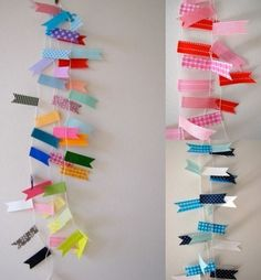 bunting with washi tape- super cute!