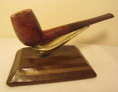 Vintage Kaywoodie Flame Grain Meerschaum Straight Billiard Estate Briar Pipe #41