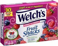 Enjoy some delicious fruit snacks at Target! Get Welch's Fruit Snacks 10ct Boxes for just $0.97 at Target after sale and Printable Coupon! Grab your prints and hurry-in to claim your savings today!  $1.00 off one Welch's Fruit