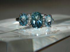 Marvelous blue topaz ring by JewelrybyDecember67 on Etsy, $84.00