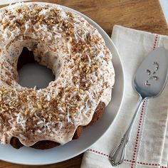 Cranberry Oat Spice Cake with Coconut, Chocolate, and Pecans by EvilShenanigans, via Flickr