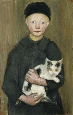 Artist: Paula Modersohn-Becker (-) - all paintings from this artist available as fine art prints, canvas prints, paper prints or hand painted oils. Paula Modersohn Becker, Animal Gato, Female Painters, Kunst Poster, Cat Posters, Art Japonais, Cat People, Oeuvre D'art, Crazy Cats