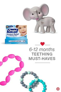From that gummy little grin to that mouthful of pearly whites, teething is a milestone that lasts for years. And, it can be painful for both babies and parents. Relieve the discomfort with teething toys, fast-acting Orajel topical treatments and even chewable Mom jewelry from Itzy Ritzy — a pretty way to help your little one chew and massage their gums to ease pain.