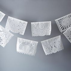 Paper lace garlands
