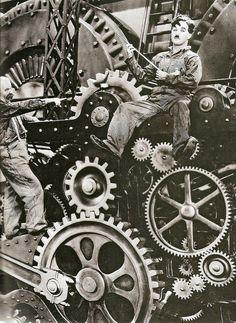 Charlie Chaplin in 'Modern Times' (1936)