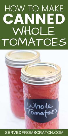 If you have tomatoes fresh from the garden, canning them is a great way to enjoy them all year. This method is a lot easier than you think. Includes pictures and step-by-step instructions.
