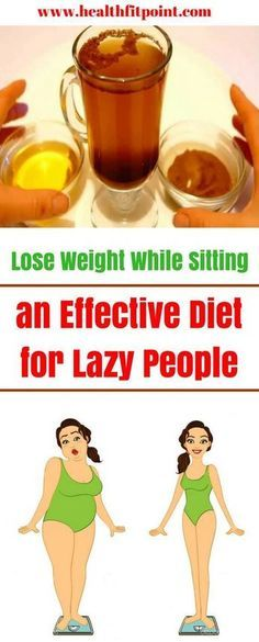 Lose Weight While Sitting! An Effective Diet for Lazy People.