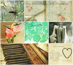 """February 2015 - """"Love"""" Mood Board Challenge from Berry71bleu ~ Colour Palettes."""