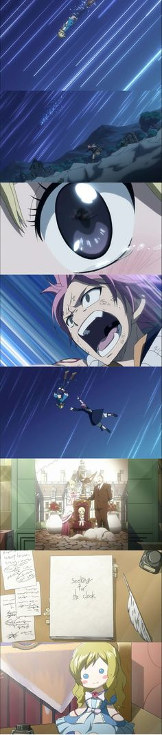 I find this really cute for some reason. I just love that Natsu ran after Lucy and caught her, and also broke her fall. :) I just found it so freakin' cute!!