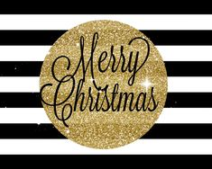 Merry Christmas and happy holidays to everyone on Pinterest :) Share in the joys of the season! <3                      (Free Black and gold Christmas printable for gift tag labels)