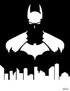 Batman Artwork by Mad--Max on DeviantArt Batman Wall Art, Batman Artwork, Batman Wallpaper, Stencil Art, Stencils, Airbrush, Silhouette Art, Batman Silhouette, Batman Party