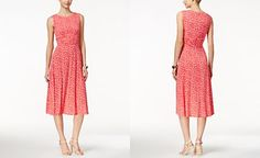 Jessica Howard Sleeveless Printed Midi Dress