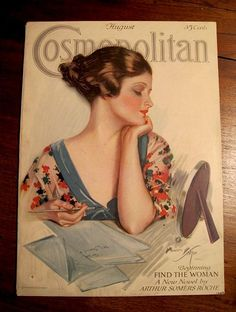 1920's Cosmopolitan magazine cover illustration by Harrison Fisher