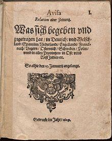 Aviso Relation oder Zeitung – Wikipedia