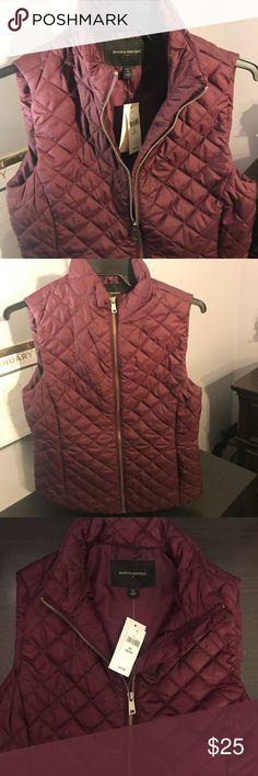 Banana Republic Factory, Zip Up Puffer Vest  Plum Purple, Comfy, fashionable. It has never been worn. I got it on sale for $49. Banana Republic Jackets & Coats Vests