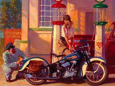 pinup girl motorcycle