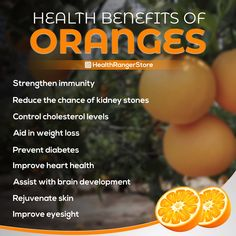 Oranges are round citrus fruits with finely-textured skins and have amazing health benefits. Orange Health Benefits, Women's Health, Health And Wellness, Healthy Foods, Healthy Recipes, Eye Sight Improvement, Citrus Fruits, Month Workout, Prevent Diabetes