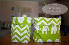 DIY: reversible fabric box