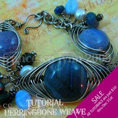 SALE! 2 DOLLARS OFF All Jewelry Tutorials (exp 12/31/13) - Herringbone Weave Jewelry - Instant Download