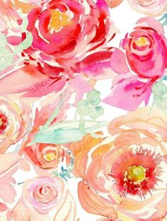 wallpaper porches floral flowers watercolor roses watercolors peony anthropology iphone html