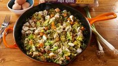 """Best Broccoli Fried """"Rice"""" Recipe — How To Make Broccoli Fried """"Rice"""" Broccoli Fried Rice, Shrimp Fried Rice, Cauliflower Fried Rice, Chef Shows, How To Make Cauliflower, Chicken Kitchen, Rice Recipes, Fries, Stuffed Peppers"""