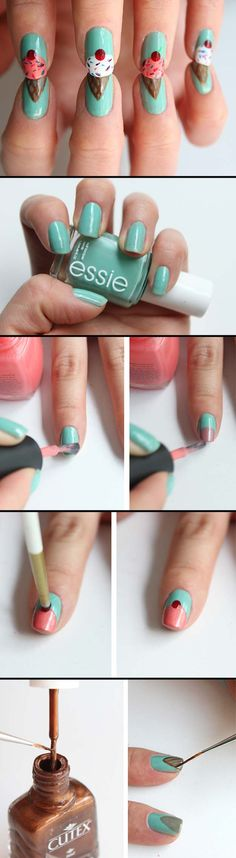 Nail Art Designs for Teens - Ice Cream Nails with Syl and Sam - Awesome DIY Summer Summer Nailart Designs - Easy and Cute Styles with Glitter and Gel - Works Great For Spring and Summer as well as Fall - Step By Step Tutorials with Crazy Designs With Rhinestones - Great Styles For Teens and For Kids - https://thegoddess.com/nail-art-designs-for-teens