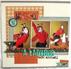 HIP KIT CLUB - October 2012 Kit - Ladybug Layout - Scrapbook.com