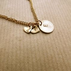 hand stamped initial jewellery £12
