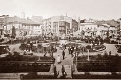 Dumska Square (currently the heart of Kyiv: Maidan Nezalezhnosti), beginning of XX century