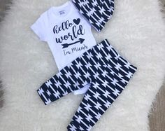 HELLO WORLD onesie hello world coming home outfit coming