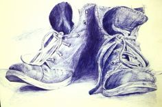 Biro drawing by Bethan Dobbie