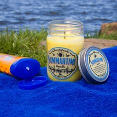Summahtime Candle by Chowdaheadz. May the scents of juicy mandarin, sand jasmine and refreshing ocean mist remind you of Summahtime...all year long!