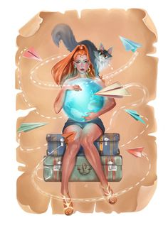 Şu @Behance projesine göz atın: \u201cTravel To World\u201d https://www.behance.net/gallery/46687065/Travel-To-World
