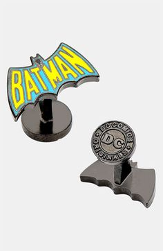 Cufflinks, Inc. 'Vintage Batman Logo' Cuff Links available at #Nordstrom