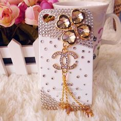 iPhone 5 4G Clover Crystal Diamond Case