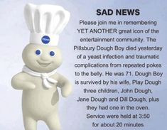 Dump A Day Funny Pillsbury Dough Boy Pictures - 16 Pics Lol, Haha Funny, Funny Stuff, Funny Shit, Funny Things, Random Stuff, Random Things, Awesome Things, Stupid Stuff
